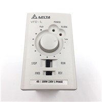 Delta Inverter VFD Variable Frequency Drive VFD001L21A 1Phase 220V 0.1kW 0.125HP 1~120Hz For Wood cutting & Wire drawing