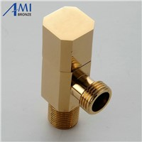 Bathroom hardware filling valve accessories square valve triangle valve  angle valve chrome polished Brass G1/2""