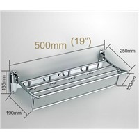 "50cm length(19"") Hardware  bathroom accessoriesTowel Rack Stainless  Steel Folding Towel Bars  For Choose"