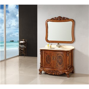 European style Solid Wood Bathroom Cabinet 0281-8053
