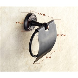 Luxury Wall Mounted Oil Rubbed Bronze Finish Toilet Paper Holder Paper Holder Box Bathroom Accessories