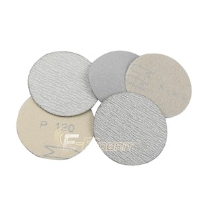 "100 pieces 3"" Dry Abrasive Sanding Disc + 1 piece M6 Holder in Air Sander for Wood Grinding Polishing"