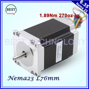 NEMA23 cnc stepper motor 57 x76mm1.89N.m 4-Lead 1.8deg / Nema 23 motor 3A  270Oz-in For CNC machine and 3D printer! high quality