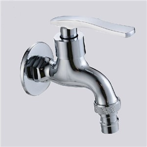 Bibcocks Chrome Brass Washing Machine Faucet Wall Mounted Pool Sink Tap Also For Garden Use Outdoor Bathroom Taps ZJ-6207