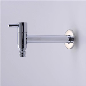 Bibcocks Lengthening Chrome Brass Washing Machine Faucet Wall Mounted Pool Sink Tap Also For Garden Use Outdoor Taps HJ-0202