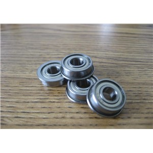 50pcs/lot  Flanged bearing  F628ZZ  miniature shielded flange deep groove ball bearings F628-2Z  7*22*7 mm