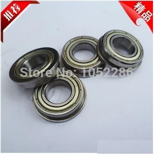 50pcs/lot  Flanged bearing  F6001ZZ  miniature flange deep groove ball bearings  12*28*8 mm