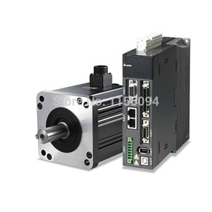 220V 400W 1.27NM 3000RPM 60mm ECMA-C30604RS+ASD-A0421-AB Delta  AC Servo Motor & Drive kits Oil Seal 2500ppr with 3M cable