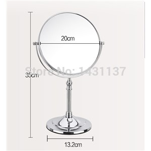 Chrome 3times magnifying make up mirror brass material  folding retractable 8' bathroom  office double faced mirror