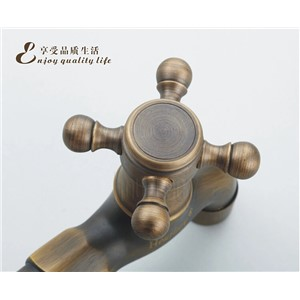 new arrival High quality luxury brass material bronze plating bathroom corner faucet tap garden outdoor mixer