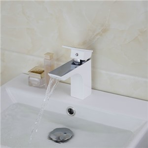 97059 White Spray Painting Chrome Hot/Cold Mixer Water Mixer Tap Basin Kitchen Bathroom Wash Basin Faucet Bath