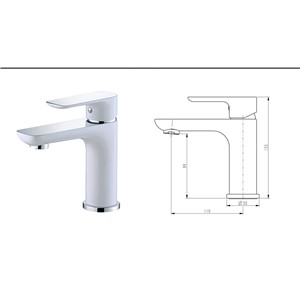 high quality bathroom faucet chrome and white sink faucet single lever bathroom sink basin faucet mixer brass water tap