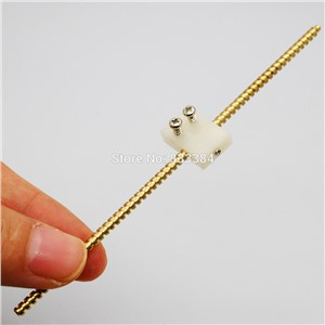120mm Rod lead screw dia 3mm with Plastic slide Great For DIY Great for motor application