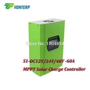 MPPT 60A LCD Solar Charge controller 12V 24V 48v auto switch MPPT 60A Solar charge controller MPPT 60A charger controller