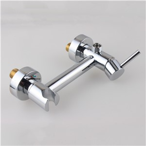 Brass Toilet  Handheld Bidet Spray Shattaf +  Hot & Cold Water Valve Mixer with Holder + Hose sprayer Jet Tap Douche kit