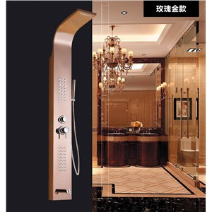 New fashion luxury high quality stainless steel and brass material  wall mounted rose gold finished shower faucet  set