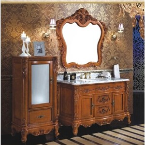 High quality classical solid wood bathroom cabinet