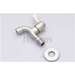 304# stainless steel material single cold faucet kitchen and bathroom single hole wall mounted water tap