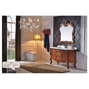 New modern wholesale High Quality Solid wood bathroom vanity manufacturer