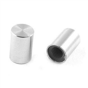 5 Pcs 10mm x 14mm Aluminum Rotary Potentiometer Knobs Silver Tone