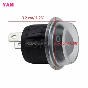 New 5Pcs Round 2 Pin SPST ON-OFF Rocker Boat Switch 12V Snap +Waterproof Coat #G205M# Best Quality