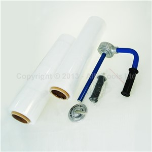 One Roll 50cm Pallet Shrink Wrap Film and Holder Pallet Box Packing Tool
