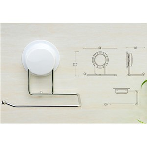 Bathroom Paper Holder Suction Cup Plastic and Stainless Steel Paper Hanger Bathroom Accessories 260011