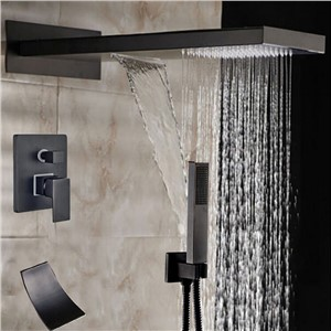 Wholesale And Retail Multi-function Oil Rubbed Bronze Shower Faucet Bathtub Mixer Tap W/ Hand Shower