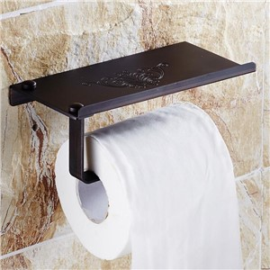 Creative Multifunction Oil Rubbed Bronze Bathroom Toilet roll Paper Holder Toilet Tissue Rack papel higienico wc phone holder