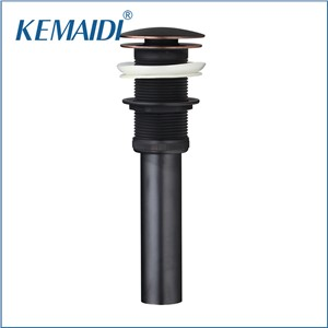 KEMAIDI Oil Rubber Bronze Bath Drains Sink 5700 Bathroom/Kitchen Round Plate Floor Drain Pop Up Drain Drain W/O Overflow Drain