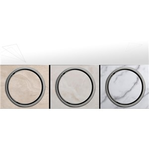 150MM Tile Insert Round Floor Waste Grates Bathroom Shower Drain 304 stainless steel anti-odor floor drain hardware invisible