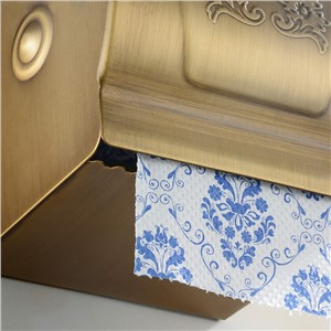 Paper Holders Antique Brass Toilet Paper Box WC Paper Rack Waterproof Closed Cover Bathroom Accessories Wall Roll Holder HF50