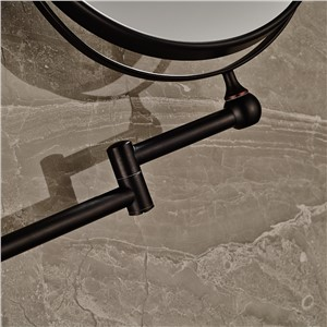 "Round Oil Rubbed Bronze 8"" Makeup mirror Dual Sides Magnifying Costemic Mirror"