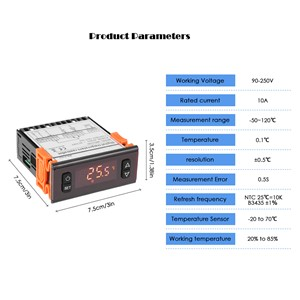 Meterk Digital LED Temperature Controller Thermostat Regulator Thermocouple Thermometer  -50~120 Celsius Degree weather station
