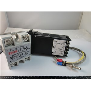 Digital PID Temperature controller + max.40A SSR + K thermocouple probe