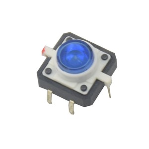 5pcs LED Tactile Button Push Switch Momentary Tact With LED Round Cap 5 color