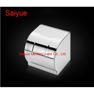 New Arrival SUS 304 Stainless Steel WC Paper Holder Toilet Cover  Roll Tissue Rack Shelf  Bathroom Banheiro Accessories