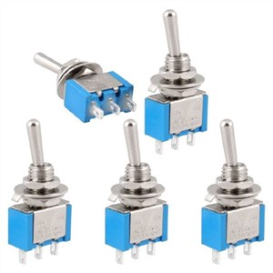 Promotion! New 5 Pcs AC 250V/3A 120V/6A On-Off 2 Position Spdt Self Locking Toggle Switch