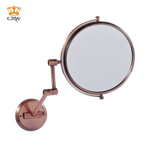 "CRW Bathroom Mirror Magnifying Make Up Shaving 2-Face Vintage Style 8"" Wall Mounted Dual Arm Extend Bathroom Accessories"