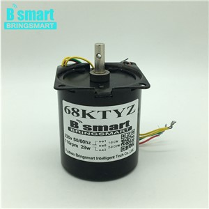 68KTYZ AC 220V AC Permanent Magnet Synchronous Motors 28W Gear Motor Slow Speed Reversible Reducer Motor High Torque Micro Motor