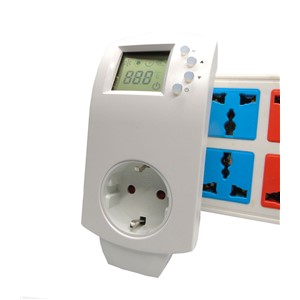 16A 4.0kW Room Electric Heating Plug In Thermostat with EU,UK,Italy,France