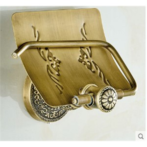 High Quality antique toilet paper holder copper paper roll holder tissue box bathroom hardware luxury paper roll holder