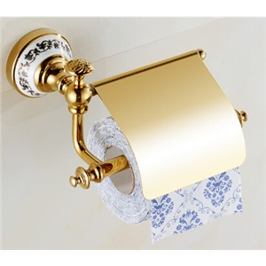 High Quality Gold Toilet Paper Holder ,Paper Roll Holder,Tissue Holder,Solid Brass -Bathroom Accessories Products
