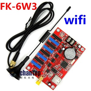 FK-6W3 wifi led controller 1344*48/1024*64 pixel wireless Wifi/phone APP/USB communication p10,p13.33,p16,p4.75 led control card