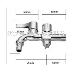 high quality outdoor garden tap Double water out washing machine water tap wall mounted flower garden taps multi-function tee