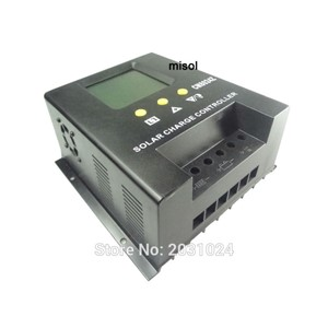 misol / solar regulator 80A 12V 24v solar charge controller PWM, for solar panel battery charging