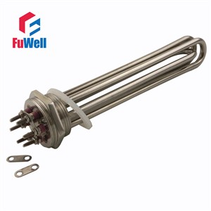 304 Stainless Steel 220V 6KW Heating Element U Shaped DN40 Electric Heating Tube Heater for Water Tank