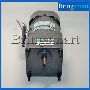 Bringsmart 220V AC Gear Motor Single Phase Motor 60W Fixed Speed  Micro Slow Speed Motor Reversible With Capacitance