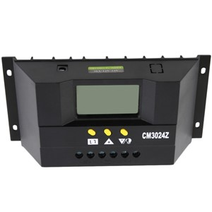 CM3024Z 30A 12/24V Solar Regulator Charge Controller PWM Charge Mode LCD Solar Genetator Voltage Control Top Quality