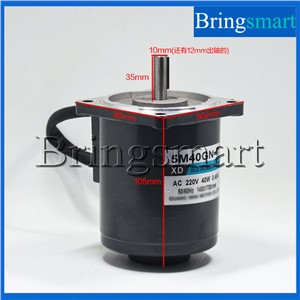 Bringsmart 220V AC Motor  5M40GN-C High Speed Motor 1400/2800rpm  Induction Speed 40W  Regulation Motor+Speed Controller